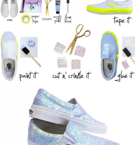 Schillernde Sneakers