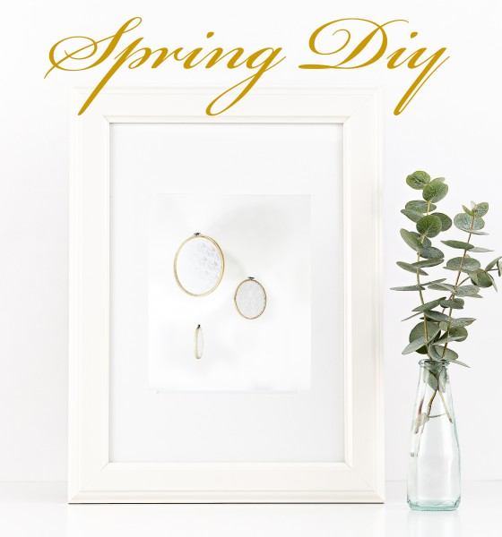Frühlings Stickrahmen DIY