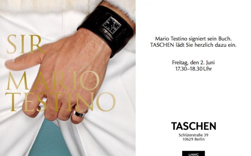 Signierstunde mit Mario Testino im Taschen Store