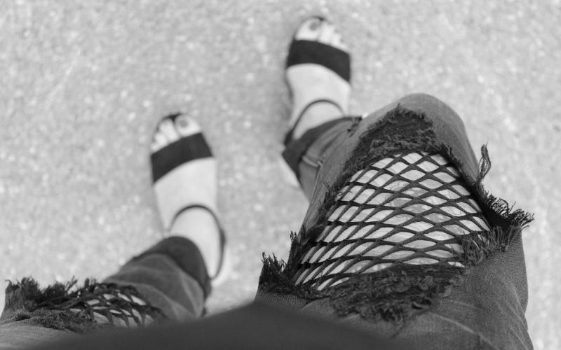 Fashion Highlight: Die Jeans mit Netzeinsatz