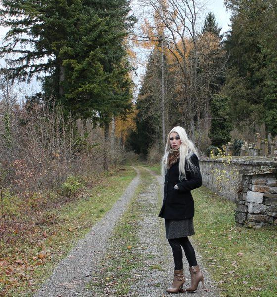 warmes Herbstoutfit mit Stiefeletten